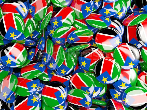 Zászló dél Szudán világ háttér utazás Stock fotó © MikhailMishchenko