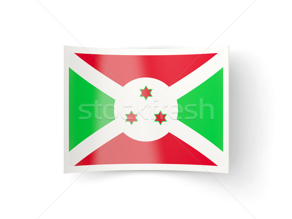 Foto stock: ícone · bandeira · Burundi · isolado · branco · país