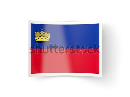 Bent icon with flag of liechtenstein Stock photo © MikhailMishchenko