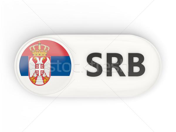 Ikona banderą Serbia iso kodu kraju Zdjęcia stock © MikhailMishchenko