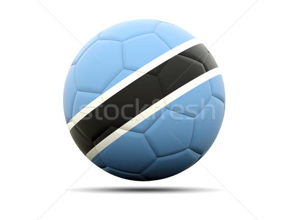 Piłka nożna banderą Botswana 3d ilustracji piłka nożna sportu Zdjęcia stock © MikhailMishchenko