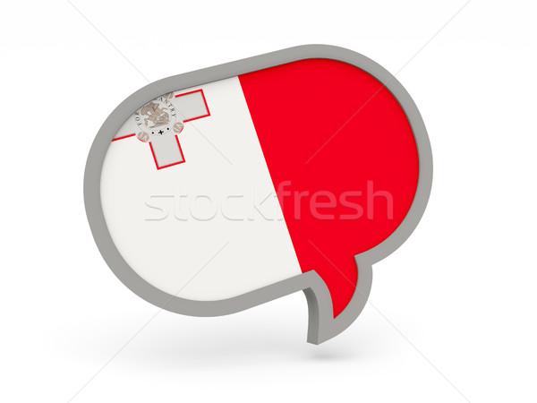 Chat icon vlag Malta geïsoleerd witte Stockfoto © MikhailMishchenko