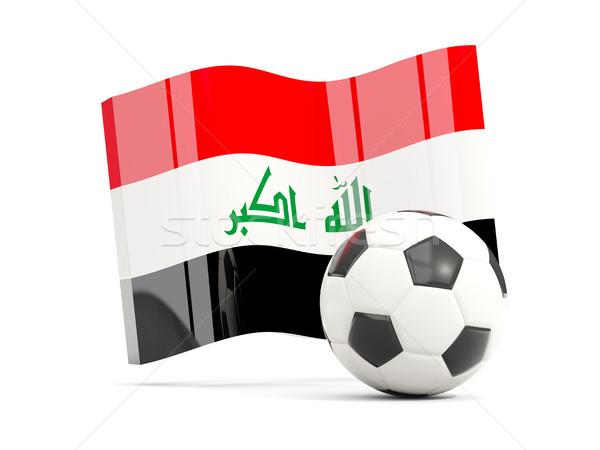 Voetbal vlag geïsoleerd witte 3d illustration Stockfoto © MikhailMishchenko
