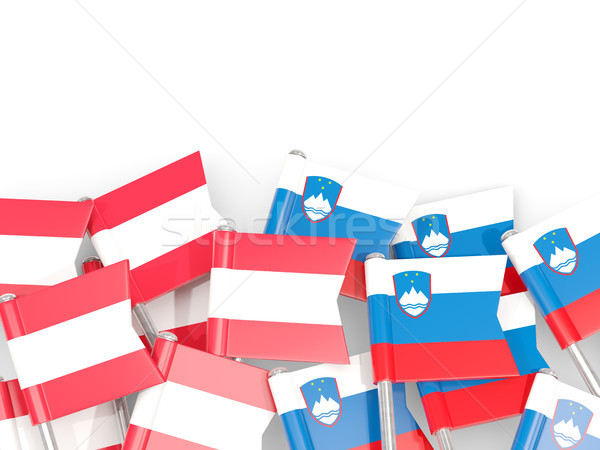 Bandeira isolado branco ilustração 3d europa linguagem Foto stock © MikhailMishchenko
