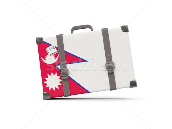 Камера флаг Непал чемодан изолированный белый Сток-фото © MikhailMishchenko