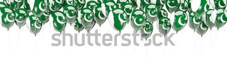 Léggömbök keret zászló Szaúd-Arábia izolált fehér Stock fotó © MikhailMishchenko