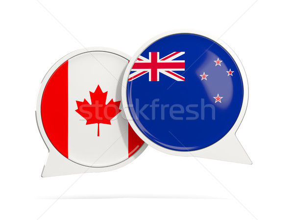 Chat bubbles of Canada and New Zealand isolated on white Stock photo © MikhailMishchenko