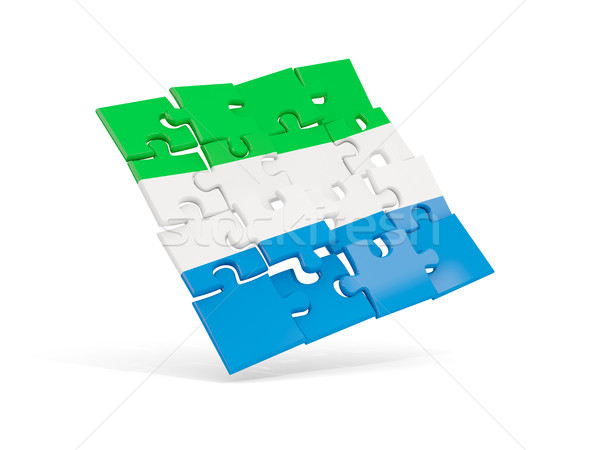 Puzzle flag of sierra leone isolated on white Stock photo © MikhailMishchenko