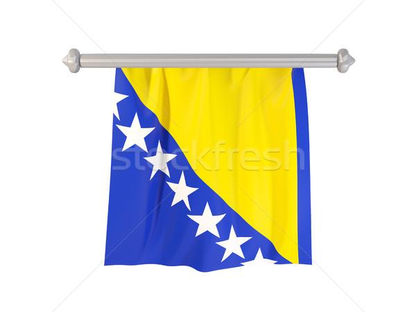 Bandeira Bósnia-Herzegovina isolado branco ilustração 3d etiqueta Foto stock © MikhailMishchenko
