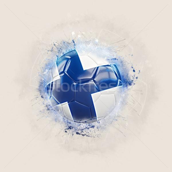 Гранж футбола флаг Финляндия 3d иллюстрации Мир Сток-фото © MikhailMishchenko
