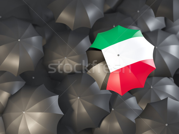 Guarda-chuva bandeira Kuweit topo preto guarda-chuvas Foto stock © MikhailMishchenko