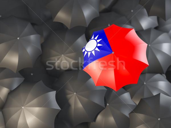 Umbrella with flag of taiwan Stock photo © MikhailMishchenko