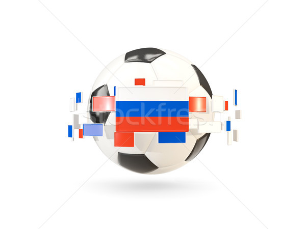 Soccer ball with line of flags. Flag of russia Stock photo © MikhailMishchenko