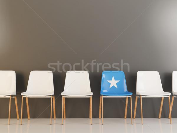 椅子 フラグ ソマリア 白 チェア ストックフォト © MikhailMishchenko