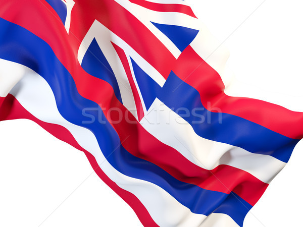 hawaii state flag close up. United states local flags Stock photo © MikhailMishchenko