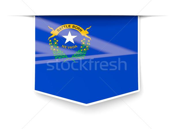 Невада флаг квадратный Label тень Соединенные Штаты Сток-фото © MikhailMishchenko