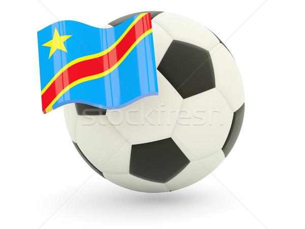 Futbol bayrak demokratik cumhuriyet Kongo yalıtılmış Stok fotoğraf © MikhailMishchenko