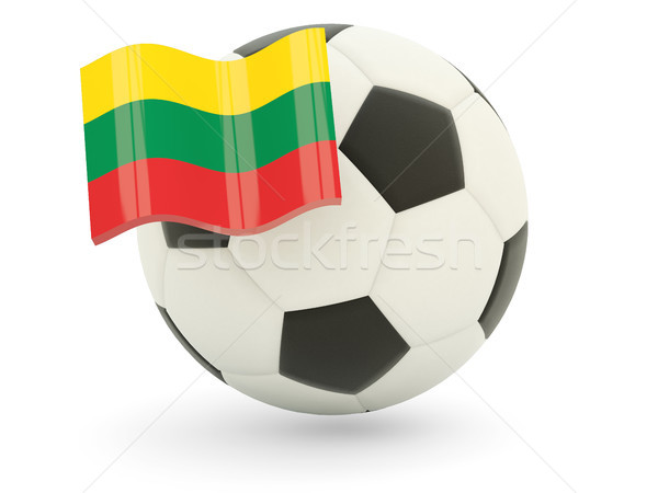 Futebol bandeira Lituânia isolado branco esportes Foto stock © MikhailMishchenko