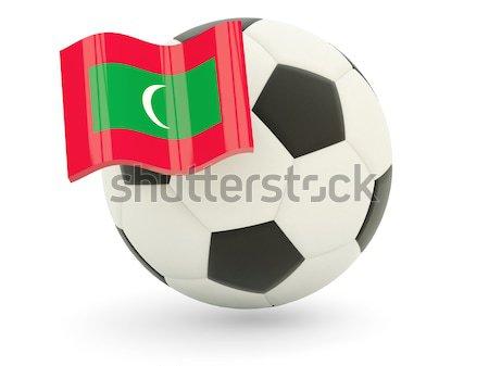 Pavillon Algérie football équipe pays Photo stock © MikhailMishchenko