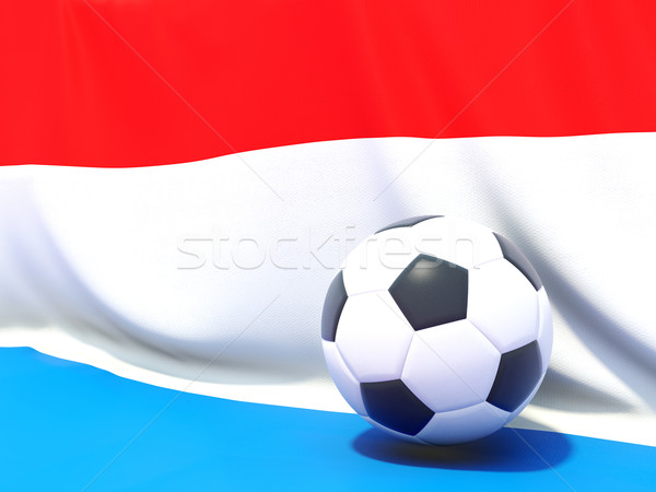 Flag of luxembourg with football in front of it Stock photo © MikhailMishchenko
