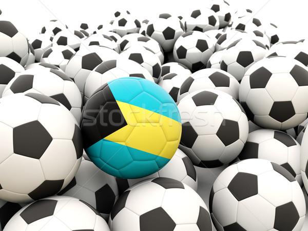 Futball zászló Bahamák rendszeres golyók nyár Stock fotó © MikhailMishchenko