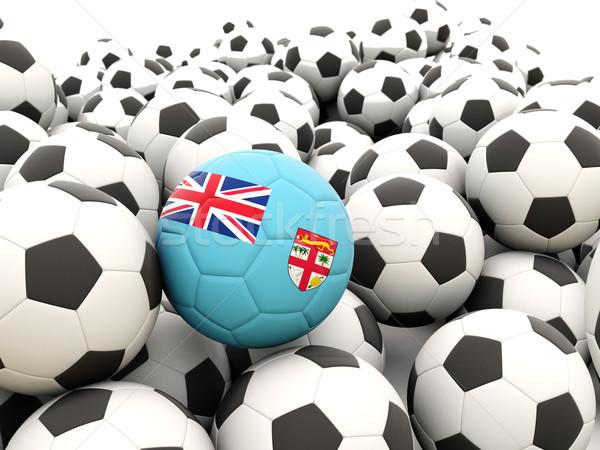 ストックフォト: サッカー · フラグ · フィジー · 夏