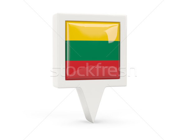 Square flag icon of lithuania Stock photo © MikhailMishchenko