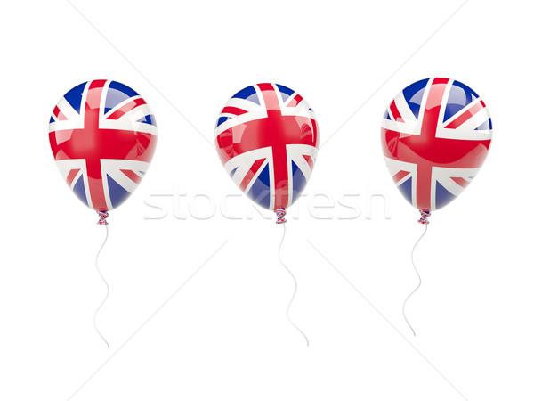 Air ballons pavillon Royaume-Uni isolé blanche Photo stock © MikhailMishchenko