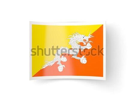Icon Bhutan geïsoleerd witte teken Stockfoto © MikhailMishchenko