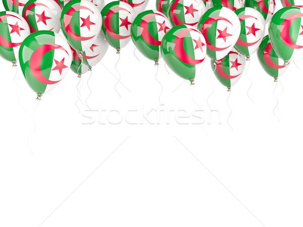 Ballon cadre pavillon Algérie isolé blanche Photo stock © MikhailMishchenko