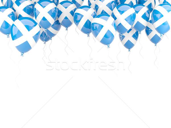Balon ramki banderą Szkocji odizolowany biały Zdjęcia stock © MikhailMishchenko
