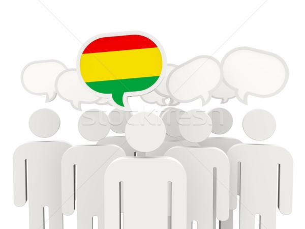 Stock fotó: Emberek · zászló · Bolívia · izolált · fehér · megbeszélés