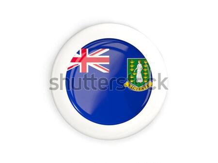 Icon vlag brits Virgin Islands geïsoleerd witte Stockfoto © MikhailMishchenko
