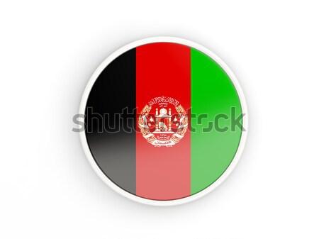 Botão bandeira Afeganistão metal quadro viajar Foto stock © MikhailMishchenko