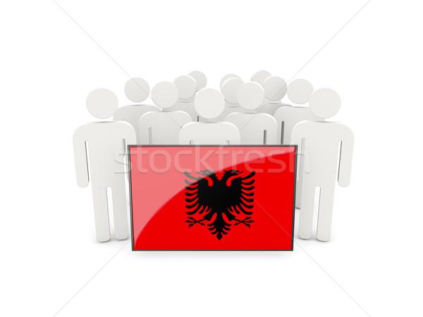 People with flag of albania Stock photo © MikhailMishchenko