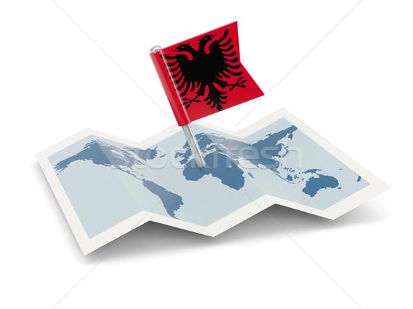 Map with flag of albania Stock photo © MikhailMishchenko