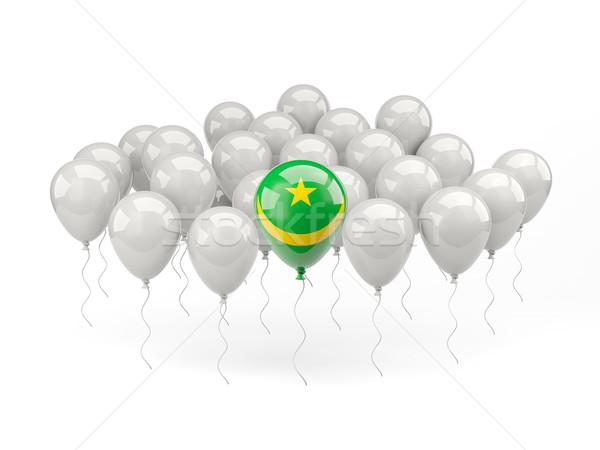 Air balloons with flag of mauritania Stock photo © MikhailMishchenko