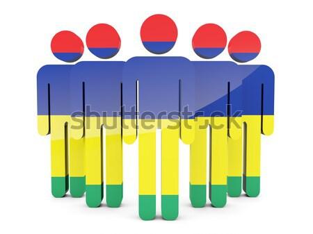 People with flag of ghana Stock photo © MikhailMishchenko