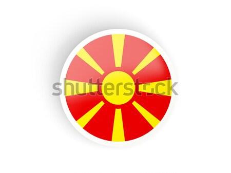 наклейку флаг Македонии изолированный белый путешествия Сток-фото © MikhailMishchenko
