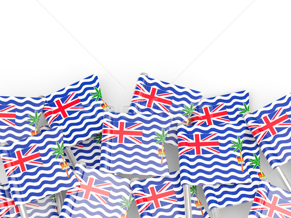 Flag pin of british indian ocean territory Stock photo © MikhailMishchenko