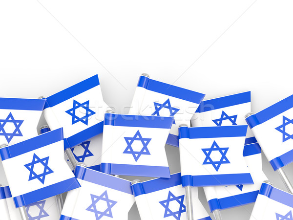 Bayrak pin İsrail yalıtılmış beyaz dünya Stok fotoğraf © MikhailMishchenko