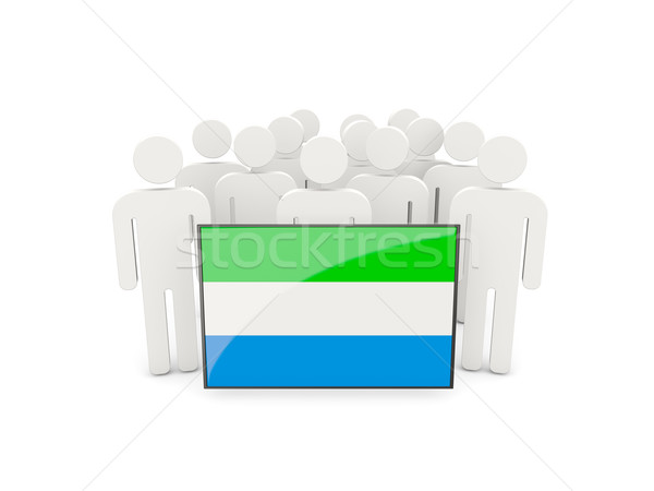 People with flag of sierra leone Stock photo © MikhailMishchenko