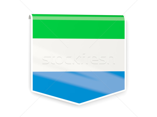 Stock photo: Flag label of sierra leone