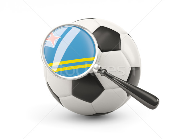 Football with magnified flag of aruba Stock photo © MikhailMishchenko