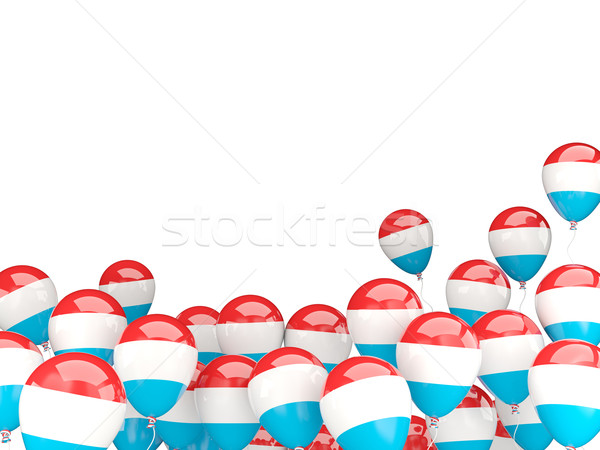 Flying balloons with flag of luxembourg Stock photo © MikhailMishchenko