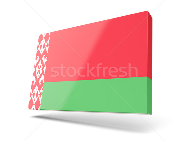 Square icon with flag of belarus Stock photo © MikhailMishchenko