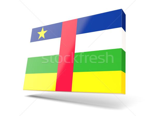 Piazza icona bandiera centrale african repubblica Foto d'archivio © MikhailMishchenko