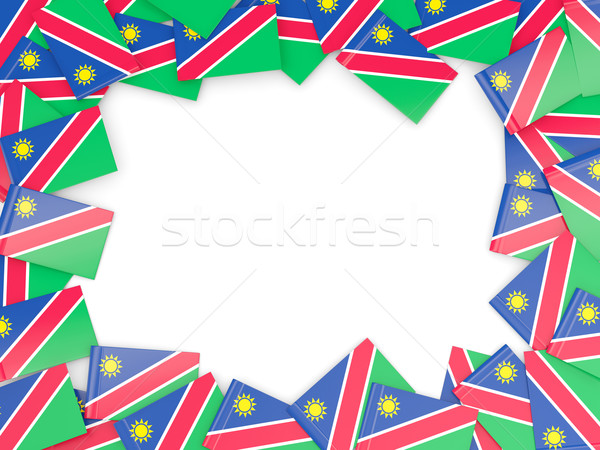 Marco bandera Namibia aislado blanco Foto stock © MikhailMishchenko