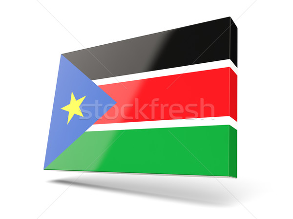 Square icon with flag of south sudan Stock photo © MikhailMishchenko