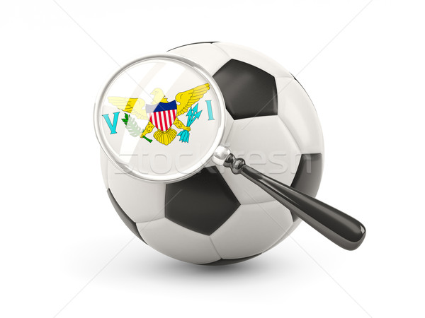 Football with magnified flag of virgin islands us Stock photo © MikhailMishchenko